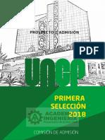 Prospecto Primera Selección UNCP 2018