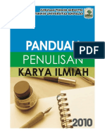 Buku Panduan Penulisan Karya Ilmiah 2010 Teknik Industri Unand
