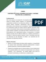 Programa Curso Partidos Politicos Regimen Electoral y Sistema Politico en La Argentina