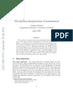 The Physical Interpretation of Daseinisation