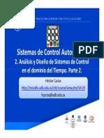 2. Análisis y Diseño de Sistemas de Control en El Dominio Del Tiempo Parte 2
