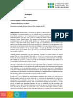 Jaime Perczyk- Políticas Educativas y Territorio
