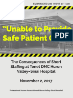 Huron Valley Nurse Report