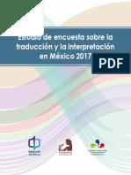 Estudio de encuesta sobre la traducción y la interpretación en México
