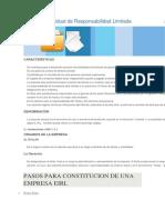 Empresa Individual de Responsabilidad Limitada Cocnstitucion