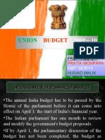 Union Budget Presentation