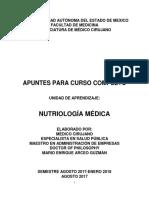 Apuntes Nutriología Médica Semestre Agosto 2017-Enero 2018