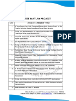 M.tech Projects on EEE MAT Lab