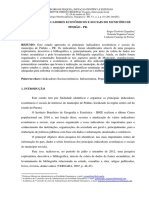 PRINCIPAIS INDICADORES ECONÔMICOS E SOCIAIS DO MUNICÍPIO DE PINHÃO - PR.