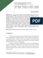 ÍNDICE DE DESENVOLVIMENTO MUNICIPAL DA MICRO E PEQUENA EMPRESA NO PARANÁ – IDMPE – GUARAPUAVA, REGIÃO E GRANDES MUNICÍPIOS.