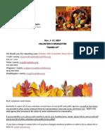 Nov. 1-17 Hands Up E-Newsletter