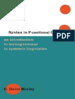 [G David Morley] Syntax in Functional Grammar
