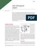 Acromioplastie Chirurgicale Et Arthroscopique