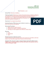 teaching demonstration form