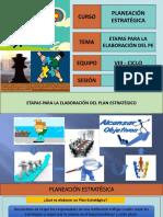 Elaboración Plan Estrategico