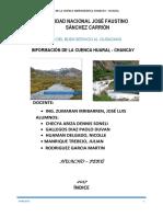 Cuenca Chancay Huaral Hidrologia. 2017 1 Tercera