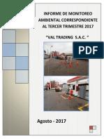 Informe Tercer Trimestre Val Trading SAC