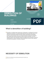 Demolition of Buildings {Ppt