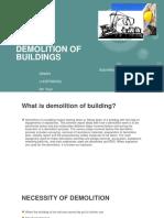 Demolition of Buildings {Ppt