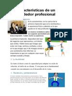 Características de Un Vendedor Profesional
