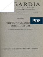 Thermodynamics of Soil Moisture (Edlefsen and Anderson, 1940)
