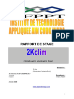 Rapport de Stage Climatisation Ventilation Froid