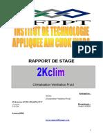 Rapport de Stage Climatisation Ventilation Froid