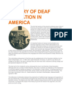 history of deaf education in america reading