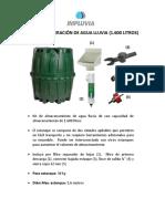 Kit Recuperación de Agua Lluvia (1.600 Litros) - 31 Agosto 2016