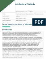 Temas Selectos de Redes y Telefonía