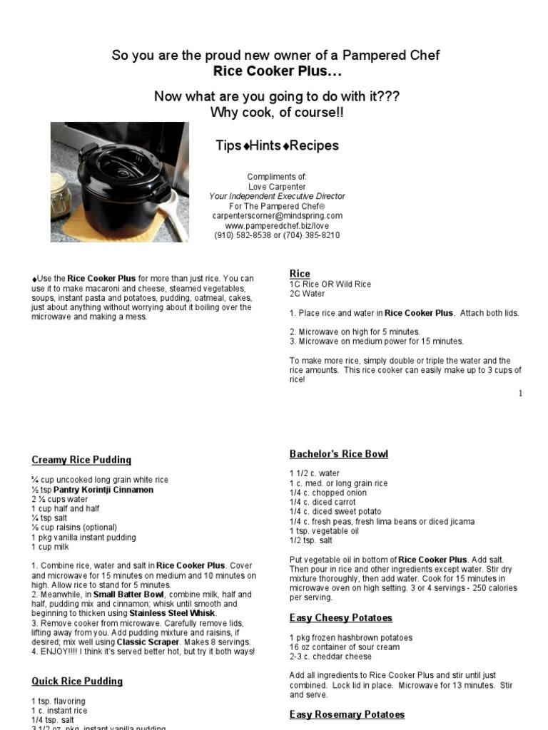Rice Cooker Plus Recipes Cakes Potato