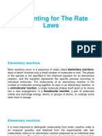 Accounting for the Rate Laws