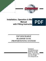 Chemguard Top Discharge Bladder Tanks_OM Manual_7!28!2009