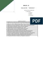 Formato de evaluación memories(3°grado)