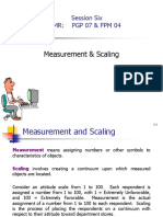 Measurement & Scalling (1)