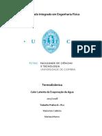 Termodinâmica - Relatório