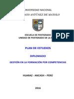 Plan de Estudios de Diplomado en Gestión en La Formacion Por Competencias