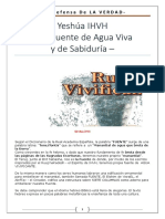 Yeshúa IHVH - La Fuente de Agua Viva - Fuente de La Sabiduria