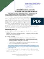 Transferring a 38DLP.ftp Format File Using 2GB MicroSD Card