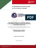 Bravo Emerson y Zamalloa Julio Sistema Logistico Empresa Mangueras