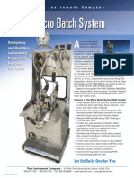 2500MB Parr 2500 Micro Batch System Literature
