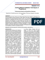 Evaluation of Cleaning Method Validation Techniques of Pioglitazone