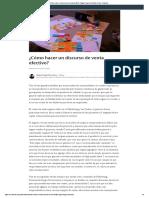 ¿Cómo Hacer Un Discurso de Venta Efectivo_ _ Miguel Angel Ruiz Silva _ Pulse _ LinkedIn