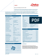 Factsheet Deka DAXplus Maximum Dividend UCITS ETF