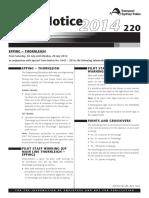 Safe Notice 220