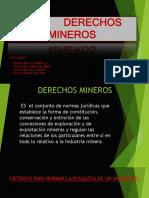 DERECHOS MINEROS