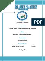 Tarea I, Teoria de Los Test y Fund. de Medicion