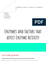 10 3 factors effecting enzyme activity