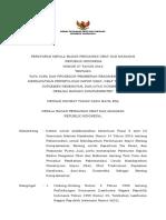 Perka BPOM Nomor 27 Tahun 2016_tentang Rekomendasi Persetujuan Impor_Nett
