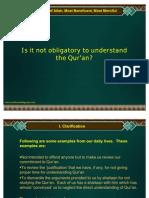 Why Understand Quran